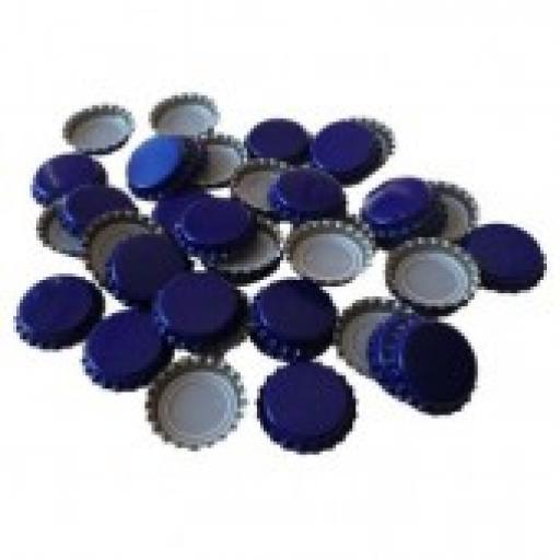 Crown caps 80's Blue