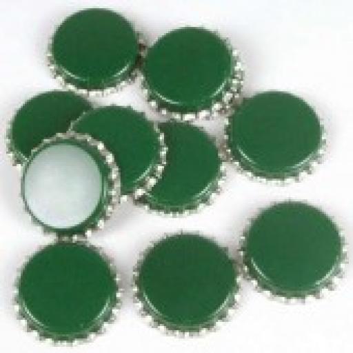 Crown caps 80's green