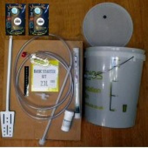 Home Brew Starter set including 40 pint Lager with full instructions.