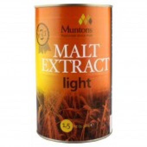 Muntons Light Plain Malt Extract 1.5kg
