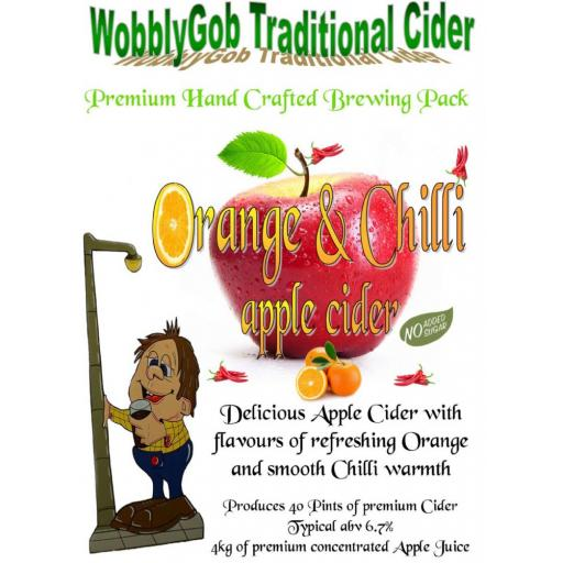 WobblyGob Orange & Chilli Apple Cider