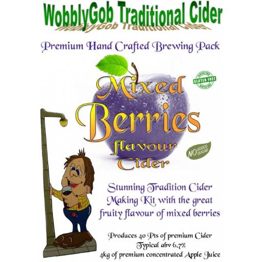 WobblyGob Mixed Berries Cider