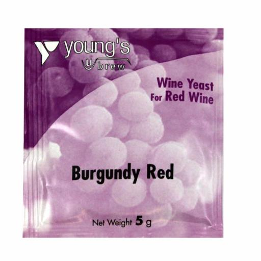 Young's Burgundy Red Wine Yeast 5g
