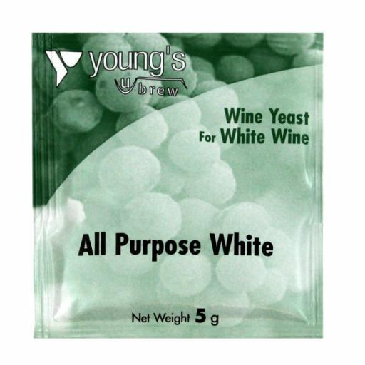 Young's All Purpose White Wine Yeast 5g