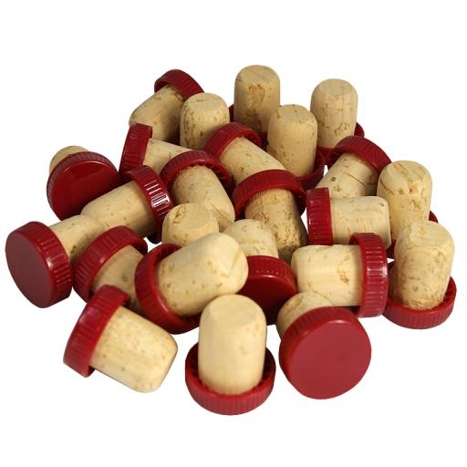 Plastic Top Corks 30's (Red)